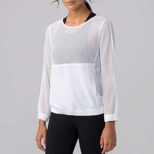 Lululemon Mesh On Mesh Pop Over Pullover Size 8